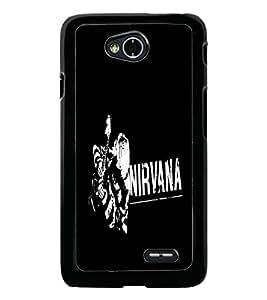 PrintDhaba Nirvana D-2405 Back Case Cover for LG L90 (Multi-Coloured)