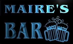 w036161-b MAIRE'S Nom Accueil Bar Pub Beer Mugs Cheers Neon Sign Biere Enseigne Lumineuse