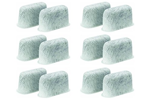 SPREAD - Pack of 12 Premium Cuisinart Charcoal Water Filters for All Cuisinart Coffee Machines (Charcoal Coffee Pot Water Filters compare prices)