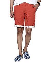 Hammock Solid Printed Mens Reversible Bermuda Shorts(H21I22J51038)