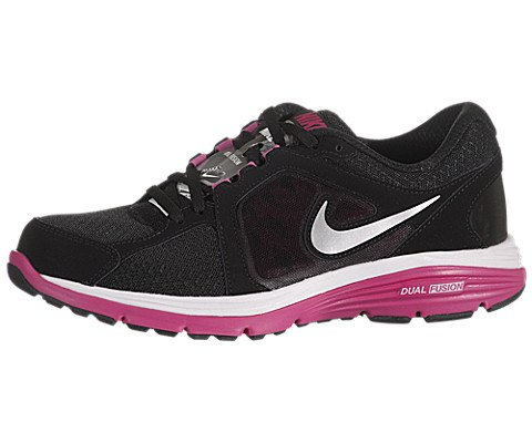 Nike Dual Fusion Women's Running Shoes 525752-001 Black/Fireberry/Silver