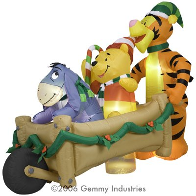 8ft Long Airblown Inflatable Christmas Disney Pooh, Tigger, & Eeyore