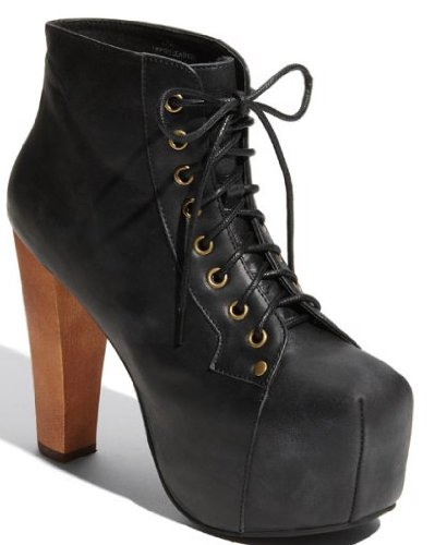 Cheap Jeffrey Campbell Lita Black Distressed (B005UCW7W2)