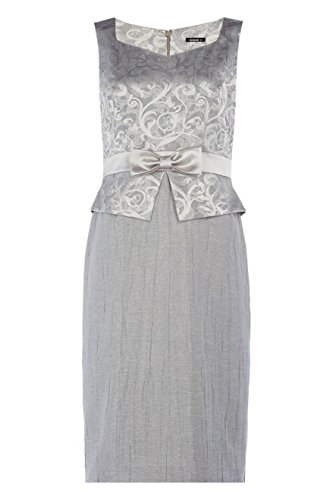 Roman Women's Crushed Jacquard Bow Detail Dress Ash