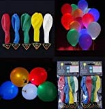 LED Light up Balloons 20 Mixed color Party Pack