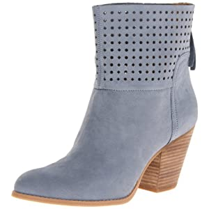 Nine West Women's Hippychic Boot,Blue Nubuck,5.5 M US