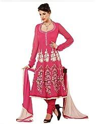 Adah Semi Stitched NET TOP WITH SATIN YOLK Designer Salwar Kameez- 380-25