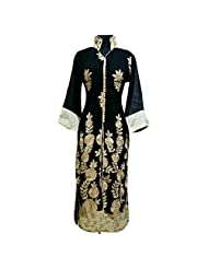 Black Georgette Fabric Party Wear Kurti Semi Stitched