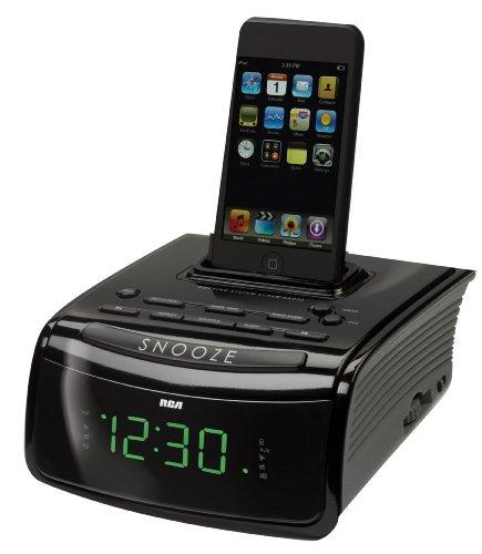 rca rc59i clock radio with ipod dock alarm clocks. Black Bedroom Furniture Sets. Home Design Ideas