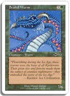 マジック:ザ・ギャザリング 【英語】 【ビートダウン】 甲鱗のワーム/Scaled Wurm