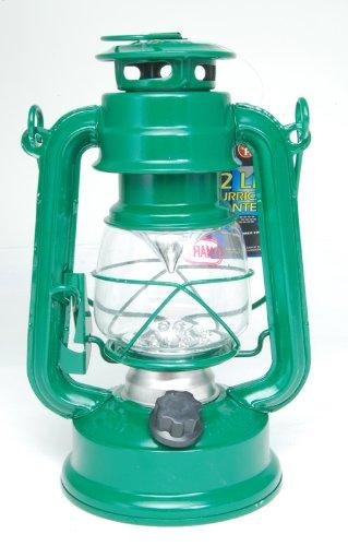 12 Led Classic Hurricane Lantern - Green