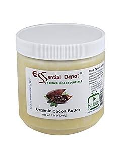 Organic Cocoa Butter - Unrefined - 16 Oz.