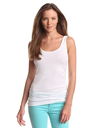 Splendid Women's Long Fitted Layering Tank Top, White,X'small