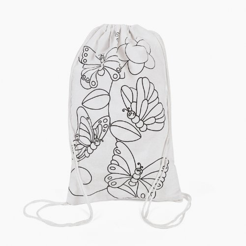 Color Your Own Butterfly Backpacks (1 dz)
