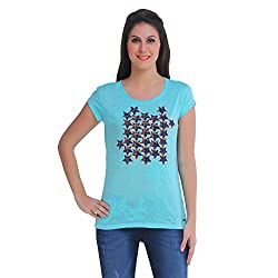 Meish Light Green Solid Top for Women