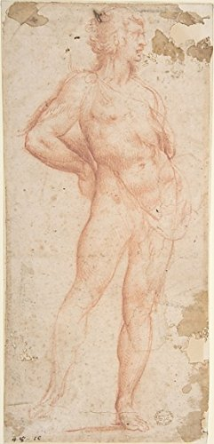 Standing Nude Man (Bacchus) Poster Print by Workshop of Cavaliere dArpino (18 x 24)