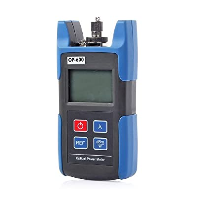 SainSonic WattsOut OP-600 Portable Optical Power Meter + 20mW Visual Fault Locator Fiber Optic Cable Tester Meter for CATV CCTV Telecommunications Engineering Maintenance Cabling System Model: