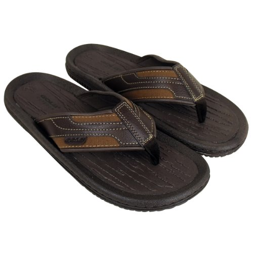 Mens Gola Brown Slide Sandals Pool Beach Water Flip Flop Sandal Shower Shoes