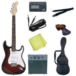 Photogenic エレキギター 初心者 入門 8点 セット ストラトタイプ バリューセット ST-180 RDS