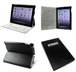 Elsse (TM) Premium Folio Case for iPad 2 With Multiple Viewing Angels - Black NC S03