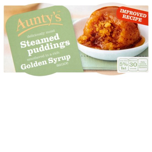 Aunty's Steamed Pudding's With Golden Syrup 200G