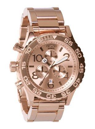 Nixon 42 20 Chrono Watch All Rose Gold One Size Watch Nixon