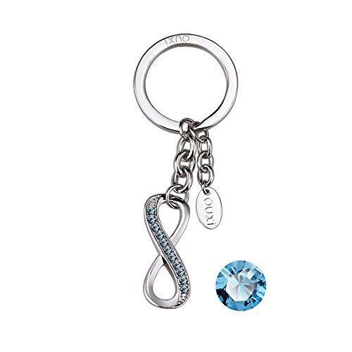 porte-cles-ouxi-swarovski-elements-bleu-ocean-infinity