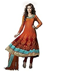 Nirali Women's Net Unstitched Dress Material (NRIOR NO 1511_Orange)