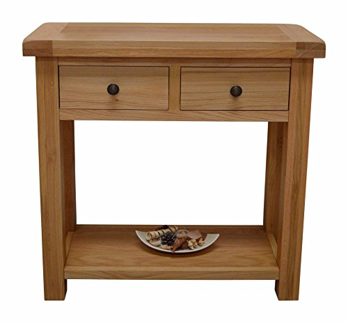 canton-oak-hall-table-2-drawer-console-table-in-solid-hardwood-telephone-table-with-dovetail-joint-d
