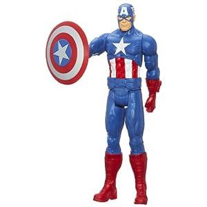 Marvel Avengers Assemble Titan Hero Series Captain America Figure, 12-Inch