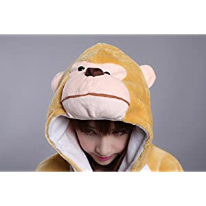 FashionFits 動物着ぐるみ サル 大人用連体服 動物パジャマ/動物コスチューム/動物仮装L