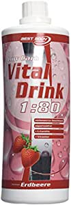 Best Body Nutrition Low Carb Vital Drink 1000ml bouteille Fraise