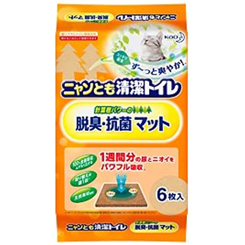 가오 냥토묘 고양이 화장실 탈취 항균 매트 6매×20개