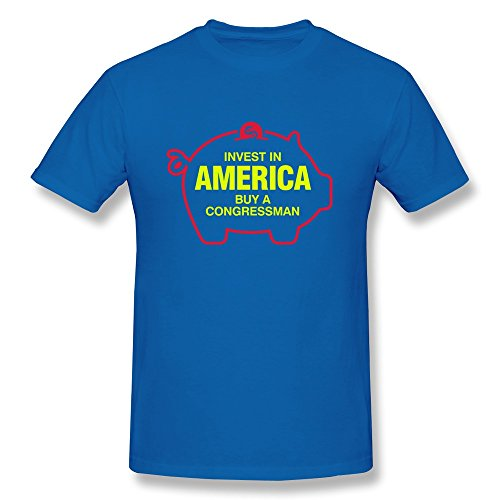 Personalize Invest America Map Pig T Shirt Screw Neck For Man front-495193