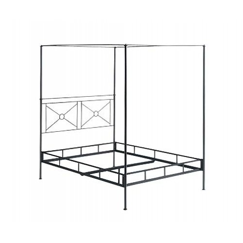Campaign Canopy Bed- Open W/ Finial Options By Charles P. Rogers - Full Canopy Bed Open Footboard