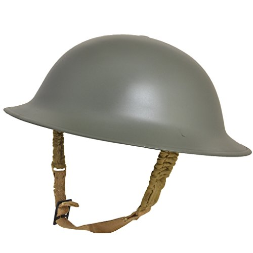 Reproduction WW2 British Army Brodie Helmet with Chinstrap - Tommy / Doughboy Tin Hat (Wwii British Helmet compare prices)