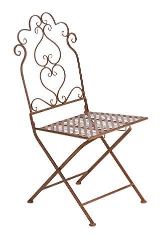 CLP nostalgischer Stuhl ANABEL aus Eisen (aus bis zu 6 Farben wählen) antik-braun