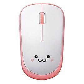 ELECOM IR LED ワイヤレス マウス 約2.5年電池交換不要 省電力 3ボタン ピンク(フェイス) M-FIR08DRPN