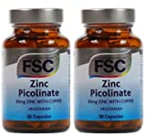 ZINC PICOLINATE WITH COPPER 30mg X 90 VEGICAPS FSC DOUBLE PACK 180 CAPSULES
