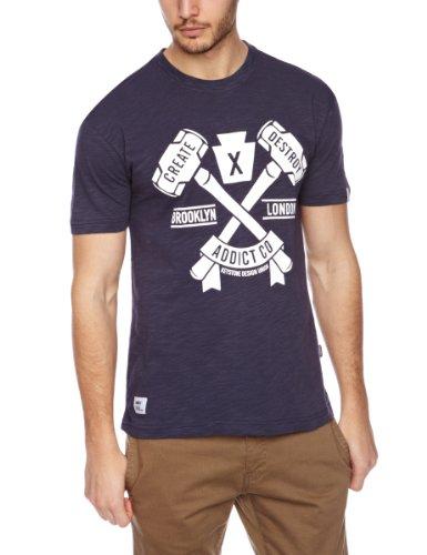 Addict X The KDU Create Destroy Printed Men's T-Shirt Athletic Blue Medium