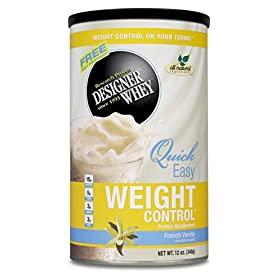 DESIGNER WHEY Weight Control Protein Supplement, French Vanilla, 12-Ounce Canister
