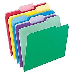 Pendaflex File Folders with InfoPocket, Letter Size, 1/3 Cut, Assorted Colors, 30 Folders per Pack (2086) (2, Letter)