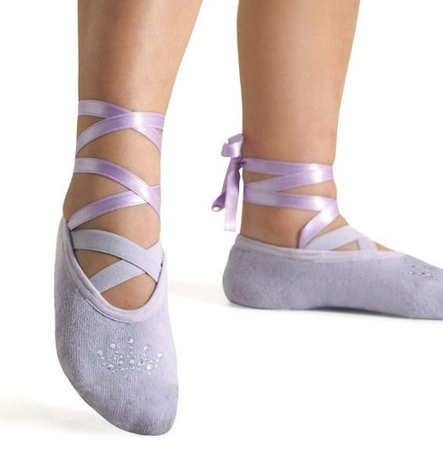 Cheap Puket Girls Ballet Slippers, Lavender (B004USQFTI)