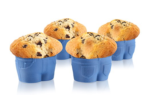 Muffin Tops Baking Cups : Stech denim style muffin tops baking cups set of home