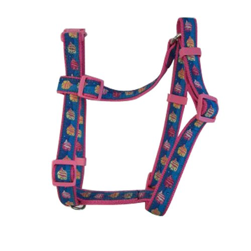 East Side Collection Nylon Seaside Ribbon Dog Harness, Fish, 14 to 20-Inch
