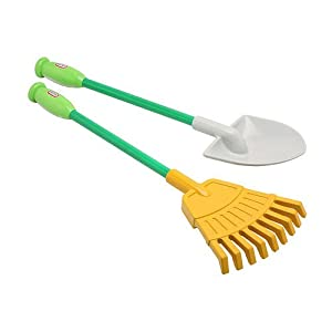 Little tikes garden tools rake and shovel for Gardening tools on amazon