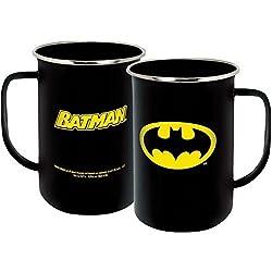 ICUP DC Batman Insignia Enamelware Mug, 20 oz, Clear