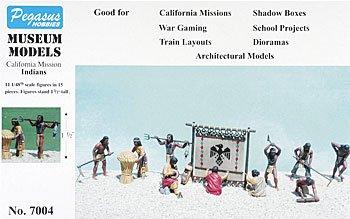 Calfornia Mission Indians (11) (Plastic Kit) 1-48 Pegasus