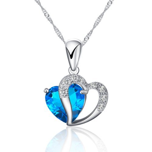 rhodium-plated-925-sterling-silver-diamond-accent-blue-sapphire-heart-shape-pendant-necklace-includi