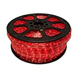 (UK version) LED Rope light set - 20m, Red